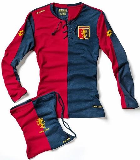Genoa lança camisa em homenagem aos seus 120 anos - Show de Camisas d2f293631d892