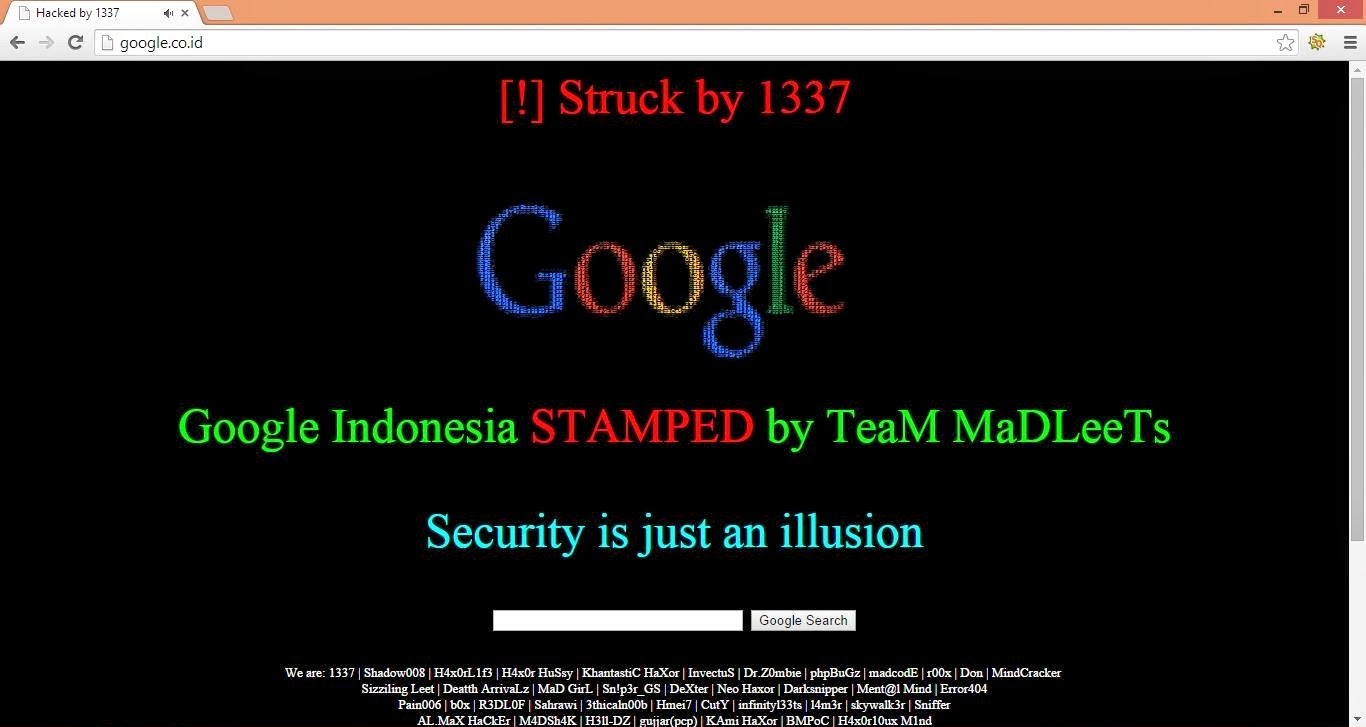 Google Indonesia di Hack/Retas
