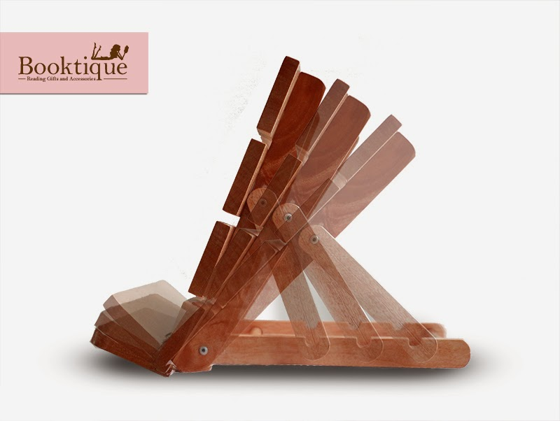 Foldable Wooden Bookstand Book Stand from Booktique