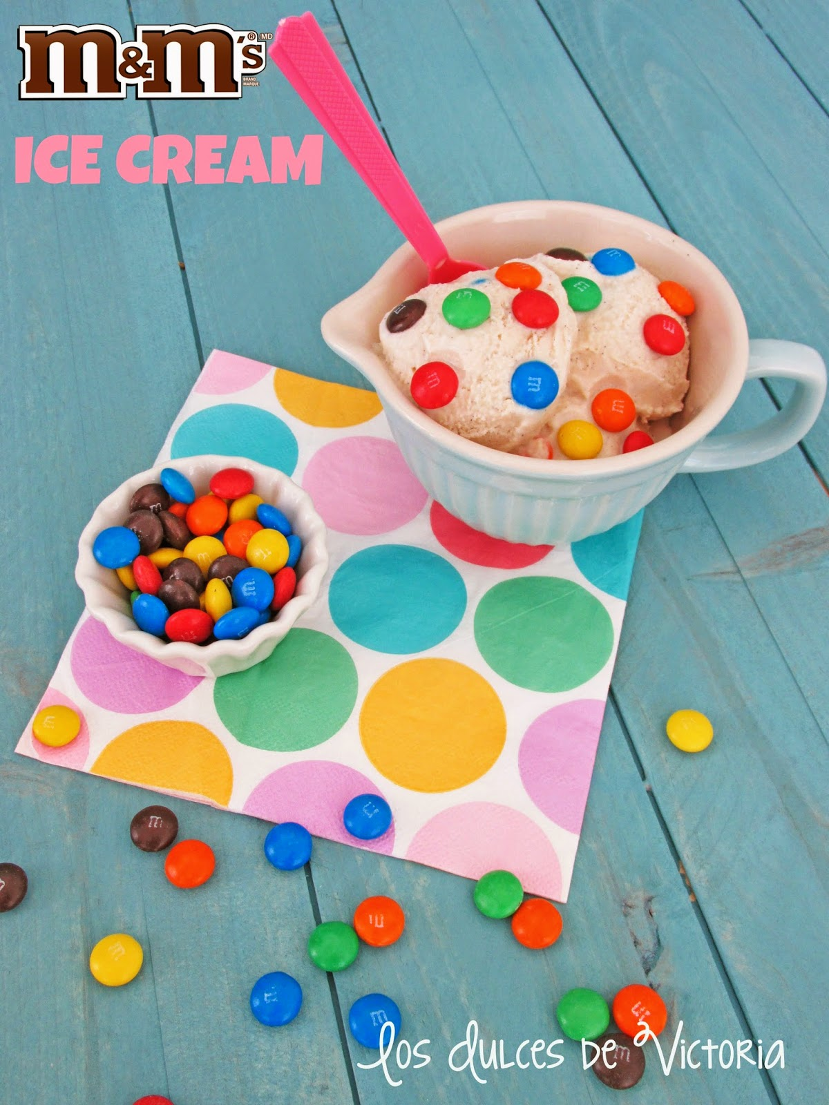 Receta M&M`s Ice Cream