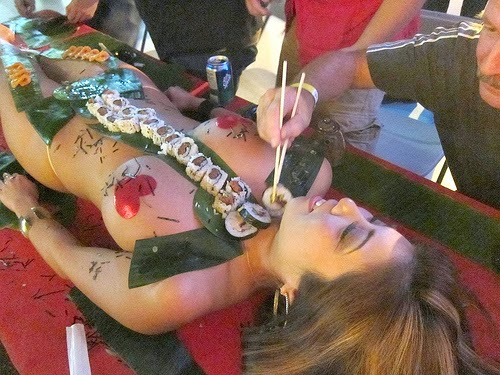 After this stuff clean room also body nyotaimori erotic