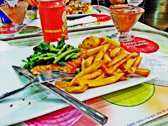 Paryż, wycieczka, obiad, Flunch, tani obiad w paryżu