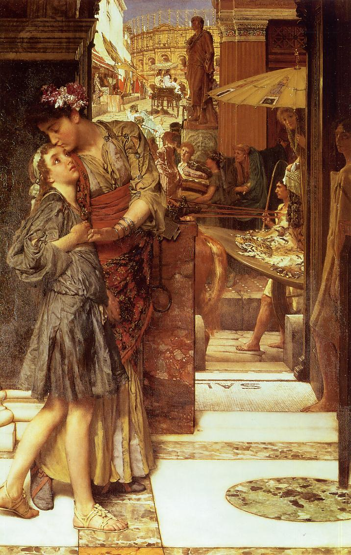 Lawrence Alma-Tadema - Page 2 1882+A+Parting+Kiss+oil+on+canvas+73.5+x+112.5+cm