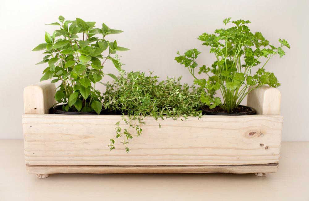 18 ejemplos de jardineras con un - Macetas hechas con palets ...