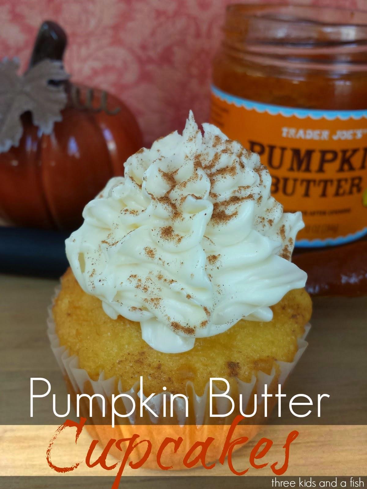 pumpkin butter cupcake