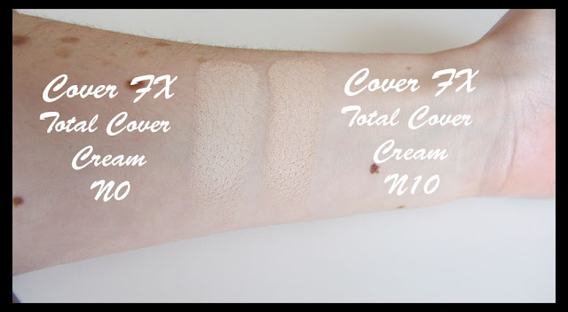 Cover Fx Natural Finish Oil Free Foundation Swatches