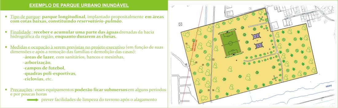 Projeto de Parque Urbano Inundável.