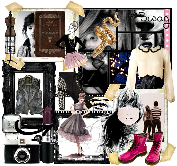 DIY fashion mood board, the creative wardrobe, fashion illustration, fashion sketch
