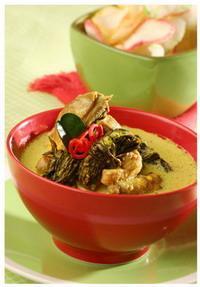 Opor Ayam Daun Singkong