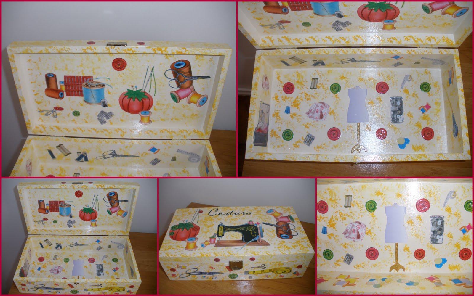 Pintura á Mão e Esponjado aplicadas em Caixa Rectangular de Madeira #967935 1600x1000