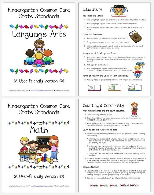 Astounding image pertaining to kindergarten common core standards printable