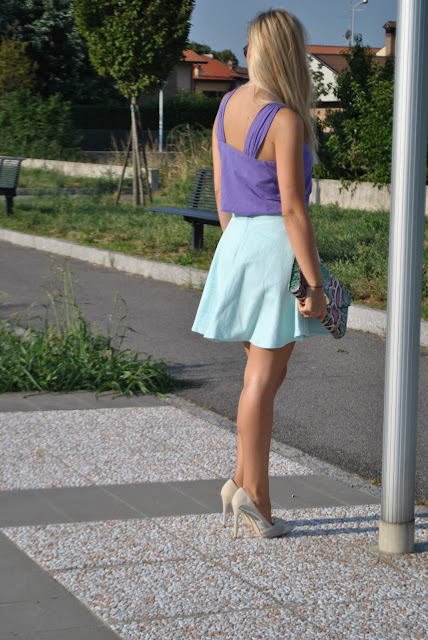 top viola marella outfit viola come abbinare il viola abbinamenti viola mariafelicia magno fashion blogger colorblock by felym outfit estivi donna outfit estate 2015 outfit agosto come vestirsi d'estate che colori usare per far risaltare l'abbronzatura marella outfit viola how to wear violet violet outfit violet  tank top summer outfits for girls