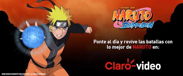 Crear cuenta ClaroVideo para ver Naruto y Naruto Shippuden