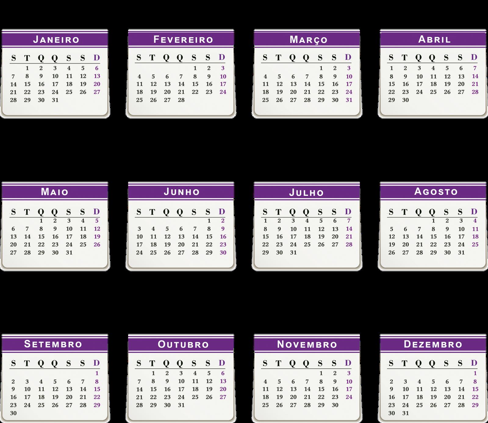 Mais 3 bases de calendário 2013 em português em alta resolução