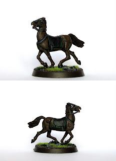 Malowanie figurki Konia z systemu Lord of the Rings Strategy Battle Game