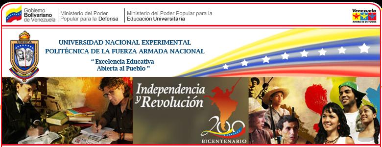 UNIVERSIDAD NACIONAL EXPERIMENTAL POLITÉCNICA  DE LA FUERZA ARMADA NACIONAL