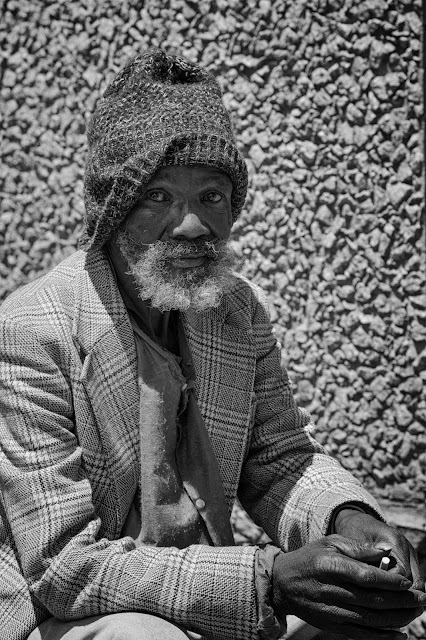 A street portrait of a man