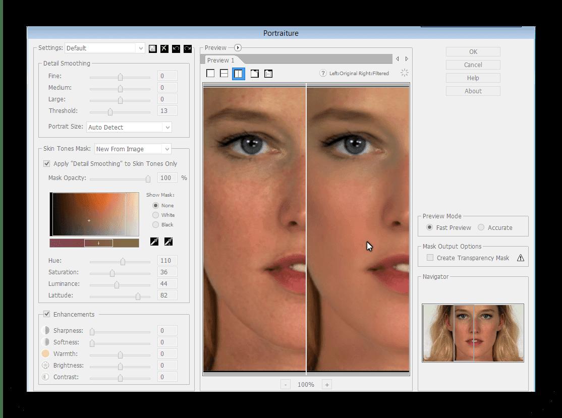 Yüzü Photoshopta rötuşla