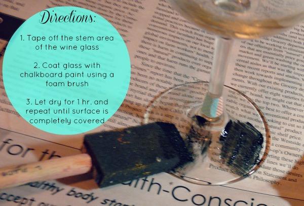 La Petite Fashionista: DIY Engagement Gift: Chalkboard Wine Glasses