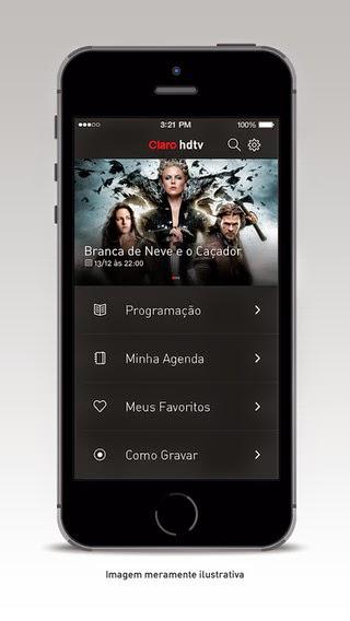 Claro TV lança seu primeiro aplicativo para assinantes HD