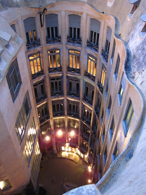 Courtyard of La Pedrera from the rooftop