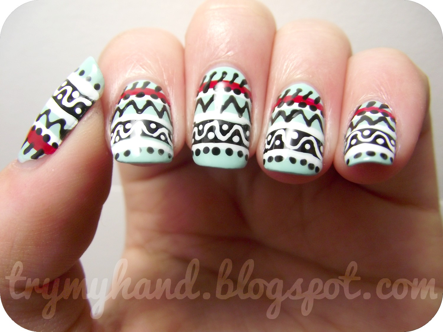 cute tribal nail design 2017 2018 best cars reviews