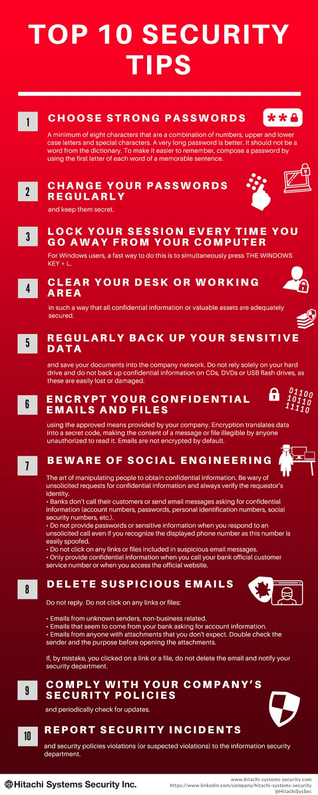Top 10 security tips #DataPrivacyDay