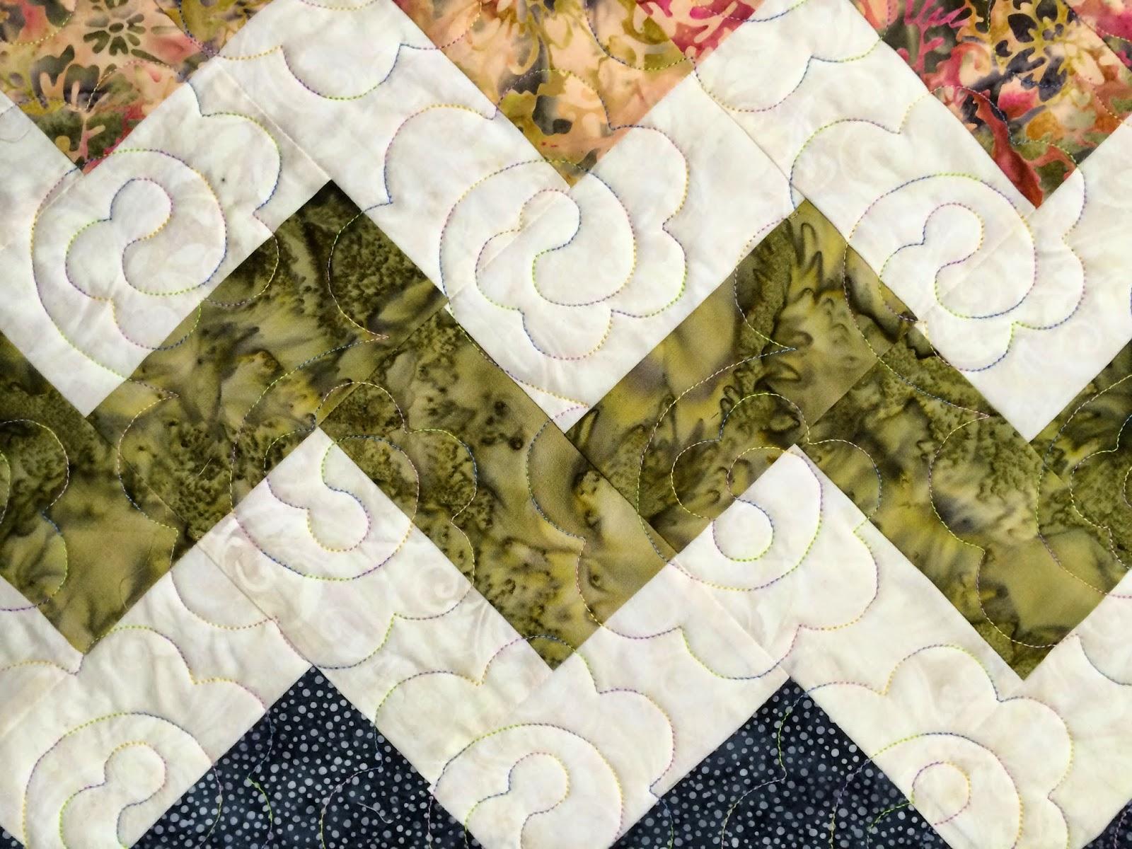 Lisa McCluer's Batik Chevron Quilt
