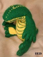 patron gratis cocodrilo amigurumi de punto, free knit amigurumi pattern crocodile