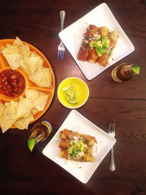 baked Chicken Enchiladas mexican food