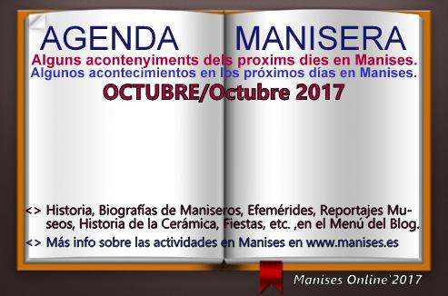 AGENDA MANISERA, OCTUBRE 2017