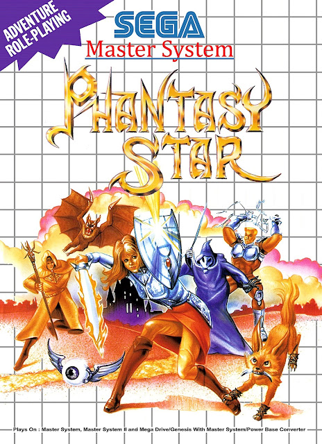 Phantasy Star box art Sega Mega Drive