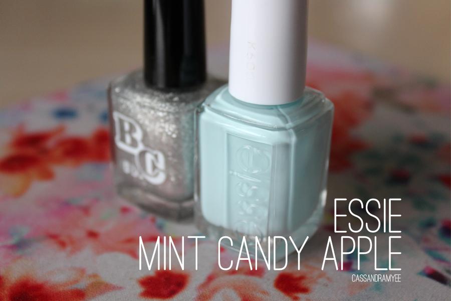 NOTD   ESSIE Mint Candy Apple + Glitter Fade   CassandraMyee   NZ ...