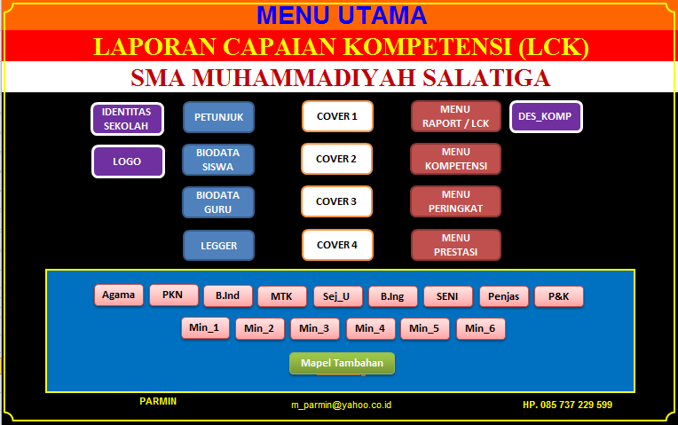 APLIKASI RAPORT KURIKULUM 2013 Tingkat SMP