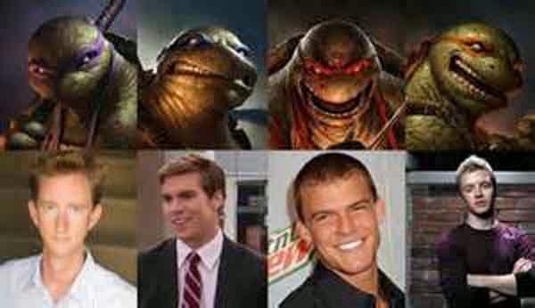 actores de las tortugas