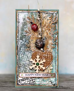 открытка со снежинкой, открытка своими руками, новый год