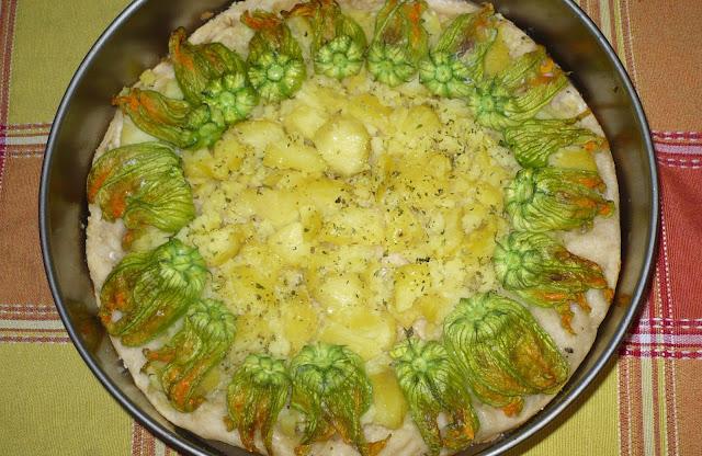 pizza vegan con le patate