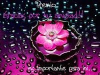 Premio Flor de la Amistad ^.^