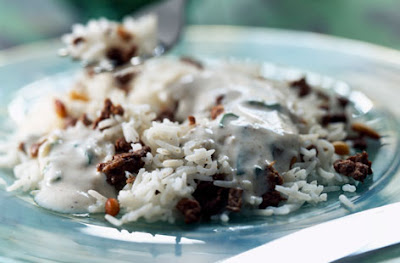Lebanese rice with mince