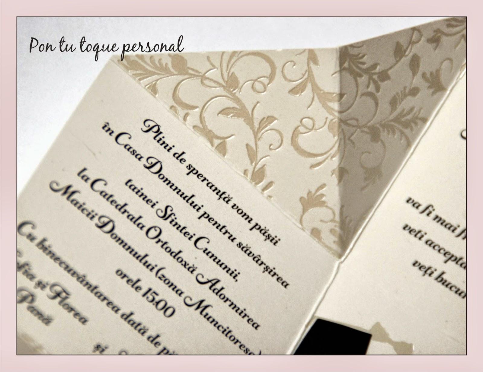 Pon tu toque personal Invitacin de boda original con forma de caja