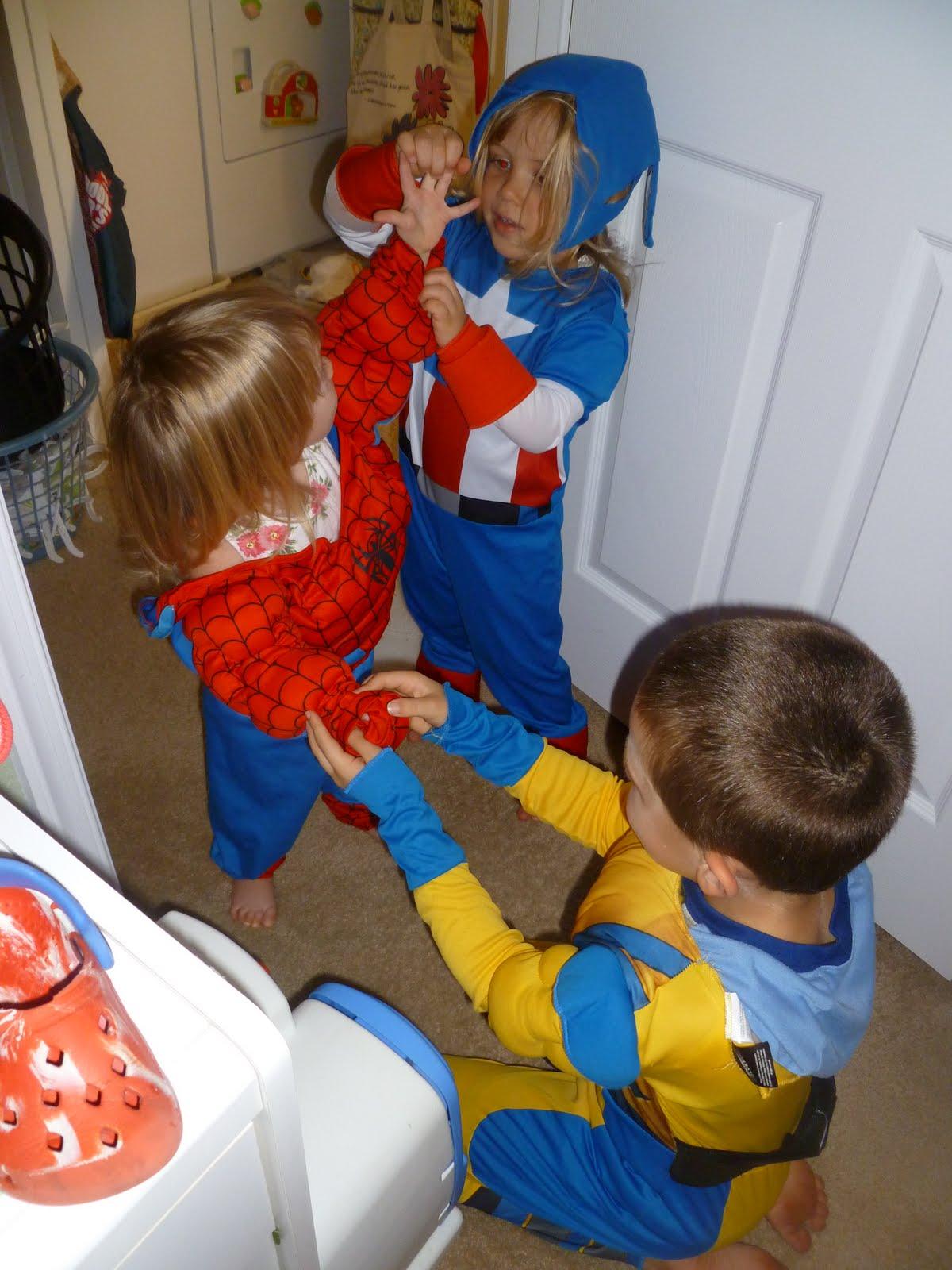 2 Boys 1 Girl 3 Superhero S Wordless Wednesday W