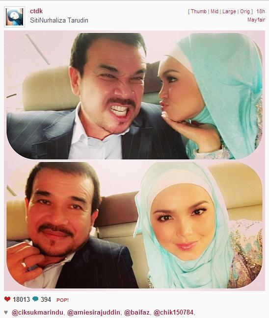 Aksi Datuk K Dan Siti Nurhaliza Dalam Kereta