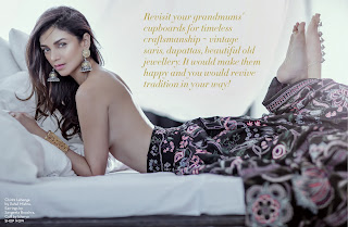 Aditi Rao Hydari sizzling Skirt for Pernia Pop Up Shop monthly magazine