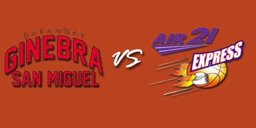 Watch Barangay Ginebra San Miguel vs Air21 Express Live Stream February 10, 2013