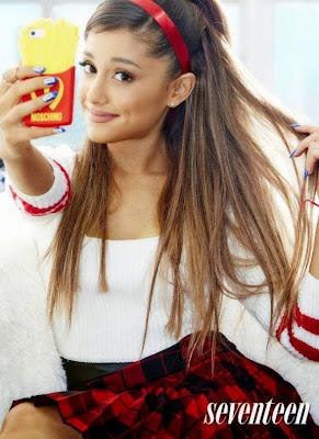 Ariana Grande selfie beauty pose seventeen magazine