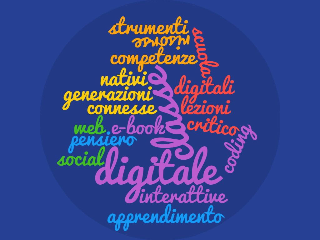 Scuola digitale word cloud