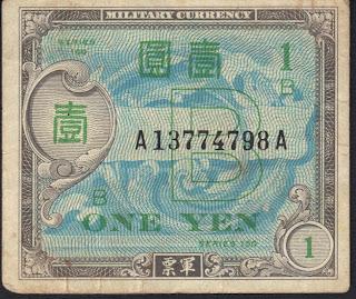 Giappone 1 Yen 1945 P# 67b