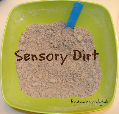 How to make sensory dirt
