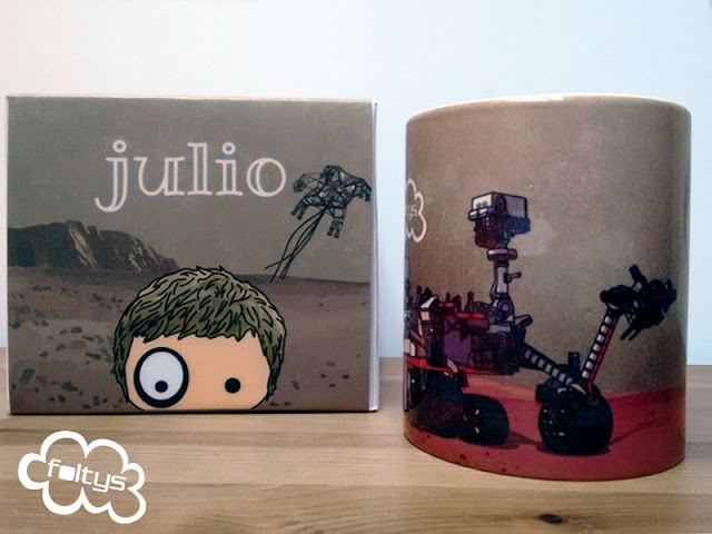 taza personalizada foltys vs julio | custom mug | handmade with love