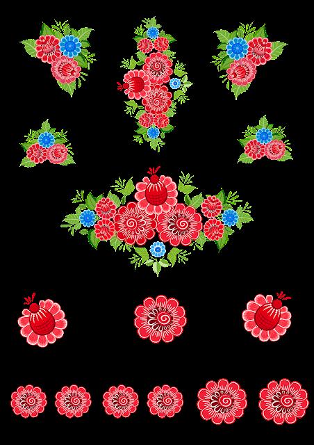 Цветы для скрапбукинга.